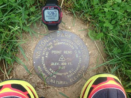 Point Reno. Highest Peak in Washington D.C, U.S.A