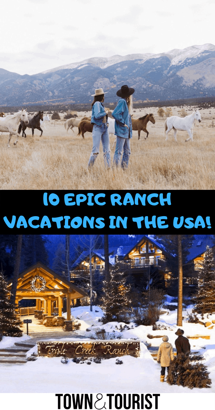 10 EPIC Ranch Vacations in the U.S.A!  Horseback Riding Vacations are great adventure holidays a true bucket list experience! .#Nationalparks #ranch #DudeRanch #America #Vacations #trips #allinclusive #Colorado #Montana #Family #LuxuryRanchVacations