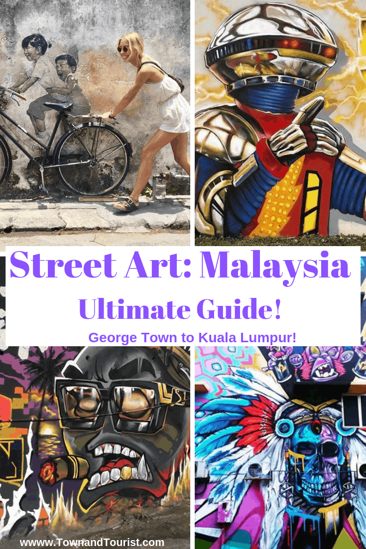 Malaysia Street Art - Ultimate Guide. From Georgetown, Penang to Ipoh and Kuala Lumpur. #Malaysia Mural #Cities #Georgetown #KualaLumpur #Ipoh #graffiti #southeastasia #asia #artists #Ernest Zacharevic #Penang #bonalfie #backpacking