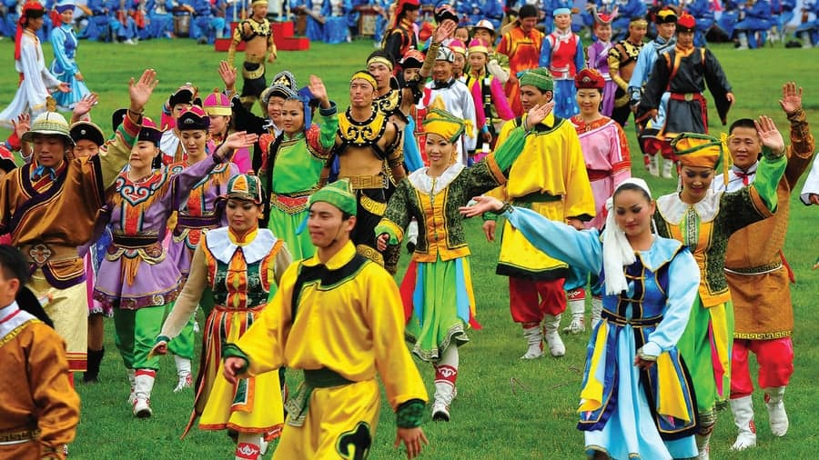 Naadam festival is a colorful event.