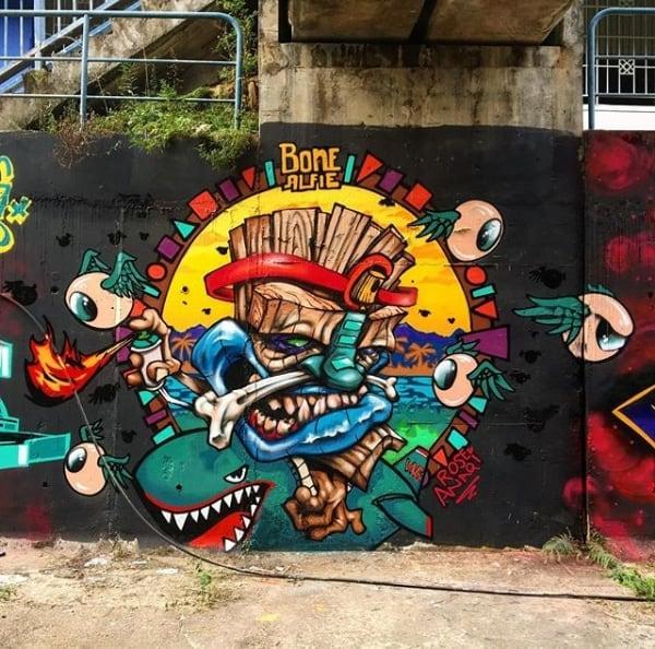 Damai LRT station, Kuala Lumpur, Malaysia Street art