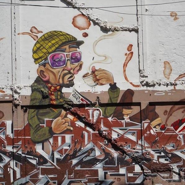 District shop gallery, Kuala Lumpur, Malaysia Street art