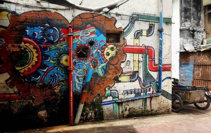Mechanical heart Malaysia Street art