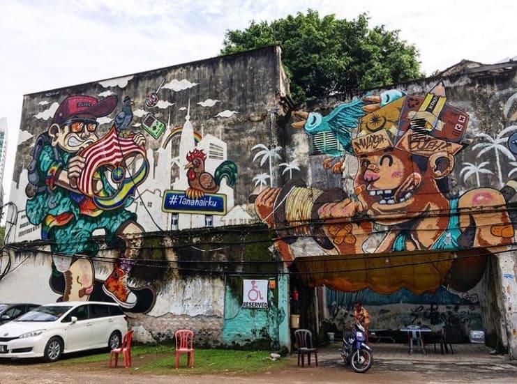 Hipster Boy & Kampung Boy , Tanahairku Street Art project