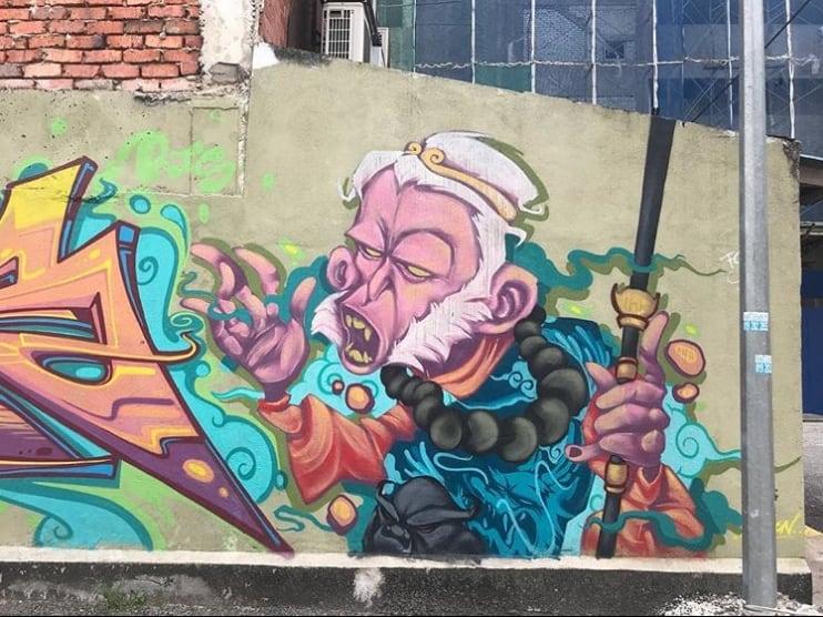Monkey King, Kuala Lumpur, Malaysian Street art