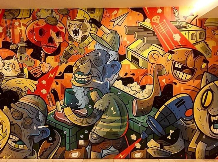Kuala lumpur street art, zombieland