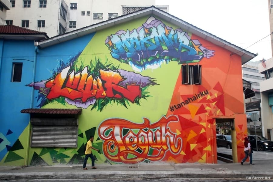 "Kuala Lumpur Street art ""energy of youth""Photo by BA Art."
