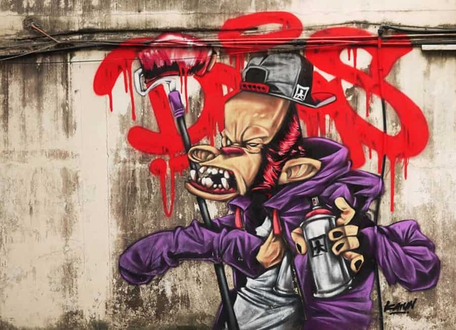 Katun, Malaysian street artist