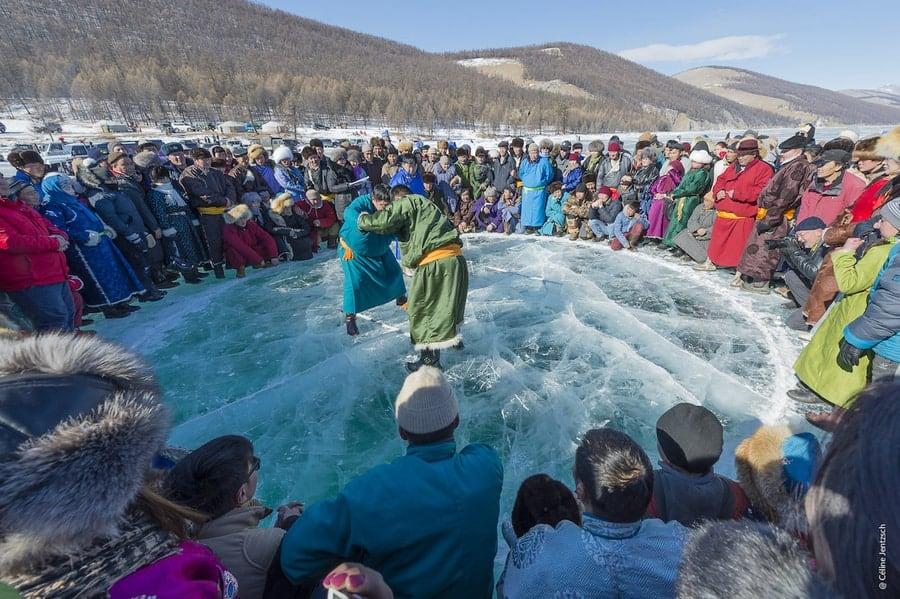 Mongolian Ice wrestling
