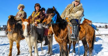 horse riding in Mongolia