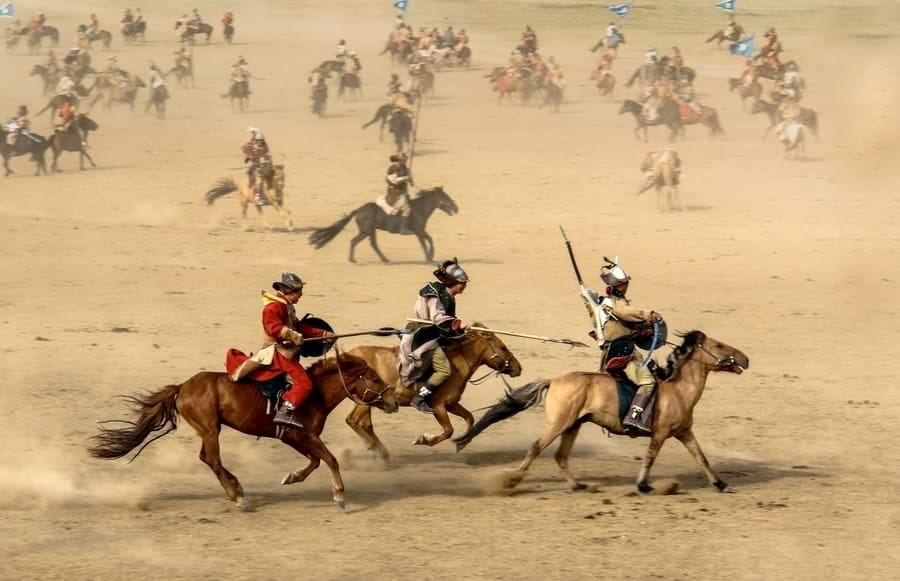 Horse riding in Mongolia golden eagle festival