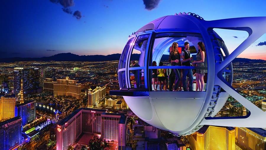 High Roller Worlds Tallest Ferris Wheel Las Vegas