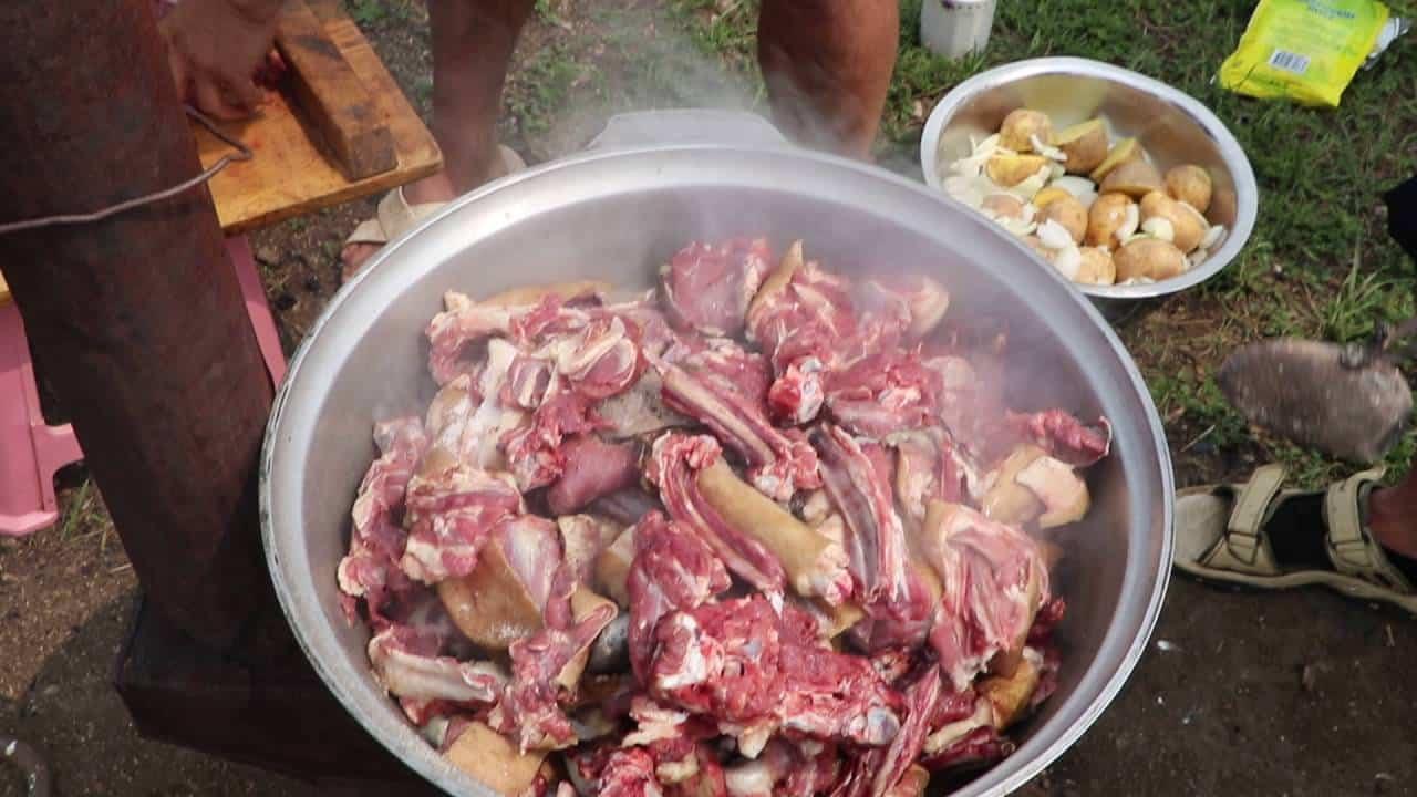 Mongolian Homestay foods, Khorhog.