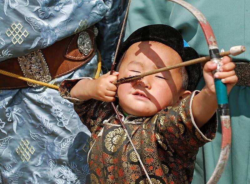 Archery at Naadam Festival.