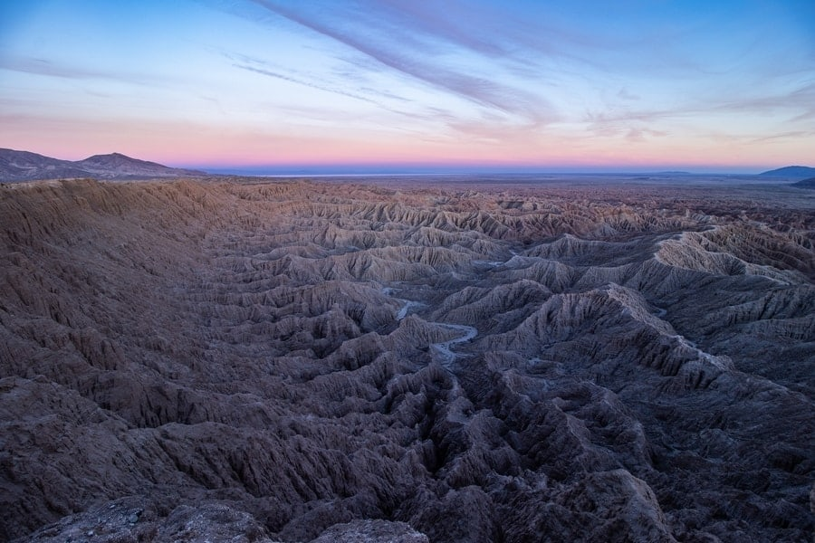 Sunrise at Anza-Borrego-State-Park-Fonts-Point.  [Best State Parks California]