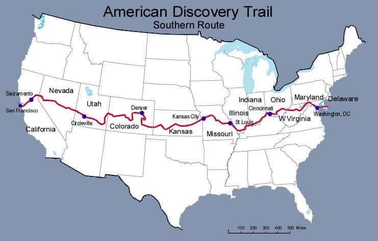 American Discovery Trail Map