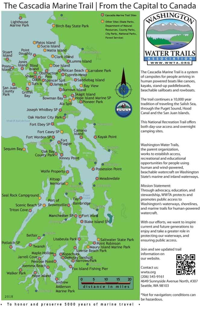 Cascadia Marina, National Historic Trail (National Millennium Trail)