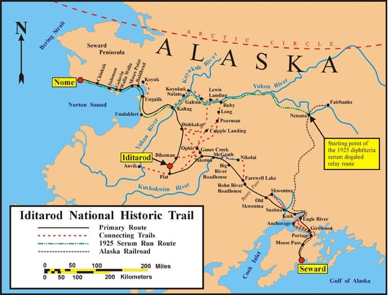 Iditarod Trail (National American Trail) - (National Millennium Trail)