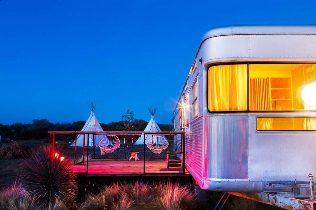 El Cosmico Texas, Camping.
