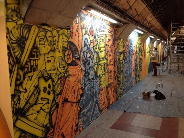Andel Metro Station Graffiti Street Art Prague