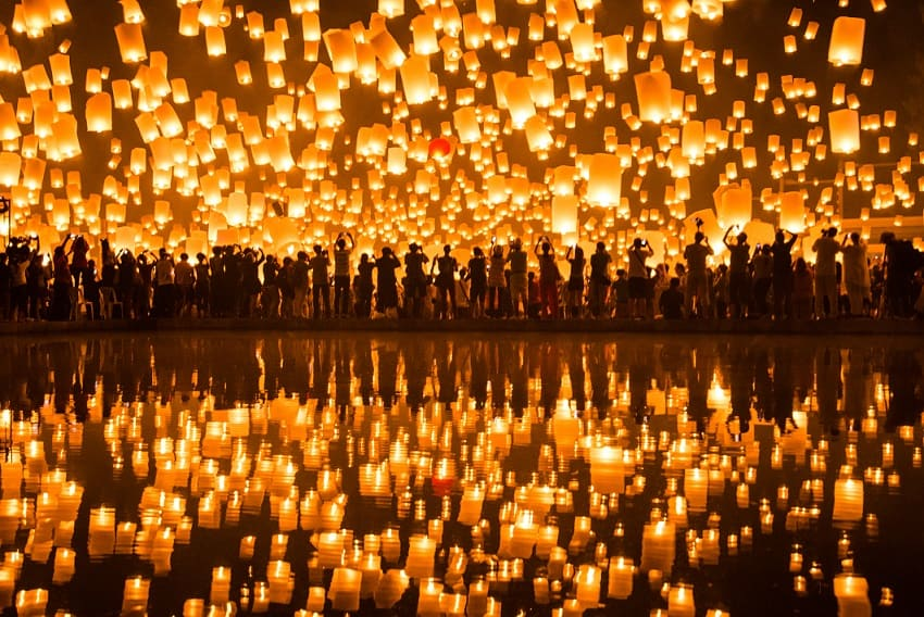 Chiang Mai Lantern Festival. Thailand.