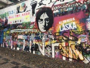 John Lennon Wall Street Art Prague