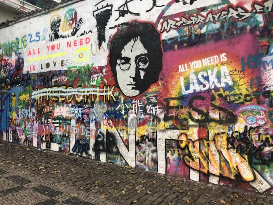 John Lennon Wall Street Art Prague