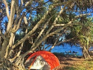 Kipahulu Campground in Hana, Maui, Hawaii