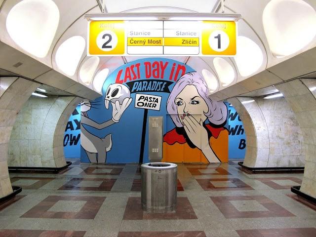 Pasta Oner Andel Metro Station Street Art Graffiti