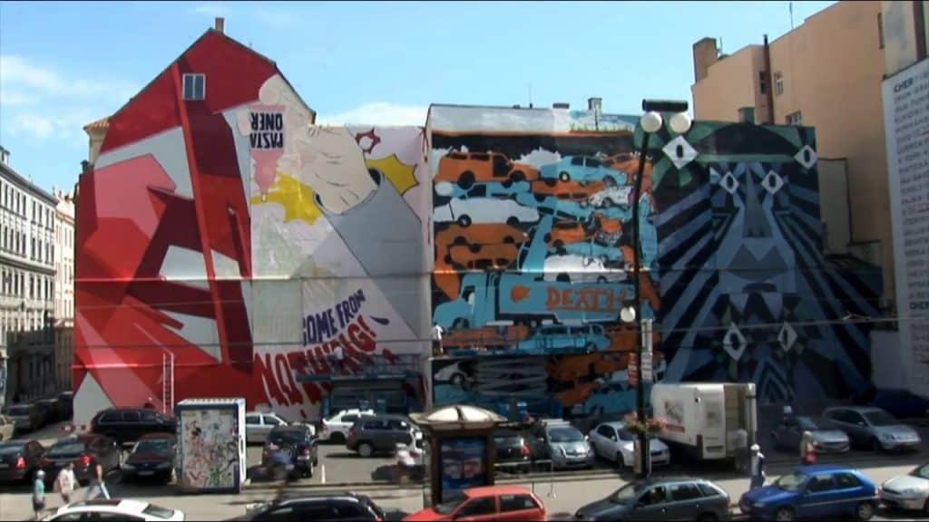 Prague Street Art narodni Trina