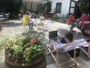 Trularna Coffee Shop Franciscan Gardens Prague, Digital nomad,