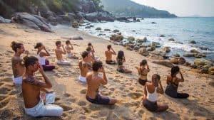 Best Budget Yoga Retreats India, Goa Beach Yoga.