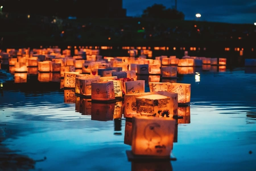 Water Lantern Festival at fort worth Texas