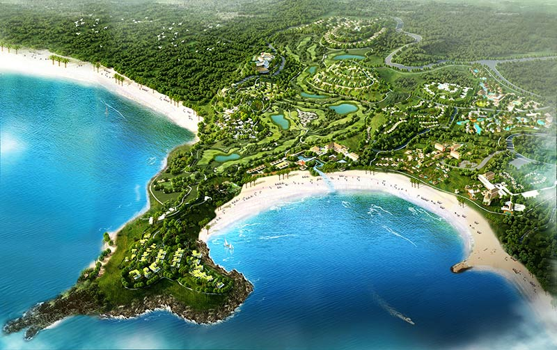 Mandalika Resort Architectural Rendering