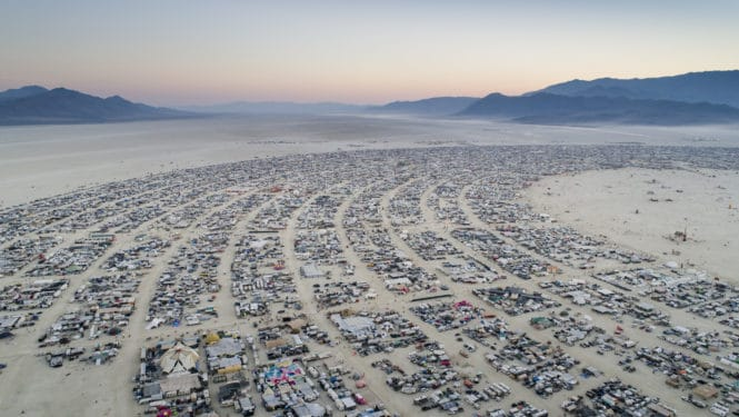 Aerial Shot of Black Rock Desert