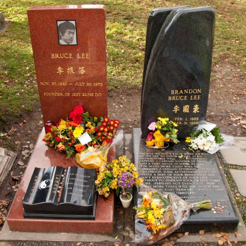 Bruce Lee & Brandon Lee Grave