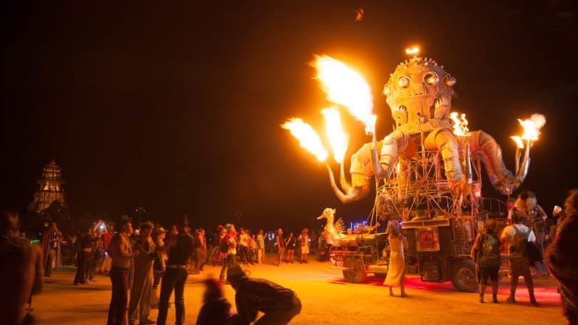 Burning Man Fire Robot car