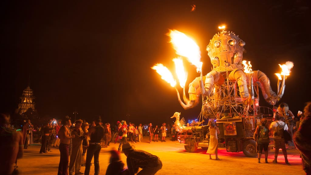 Burning Man Fire Robot car