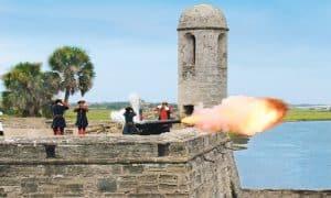 Castillo De San Marcos Fort Battle Reanactment