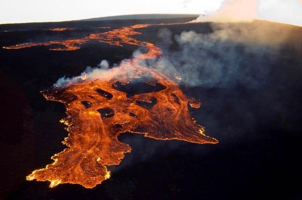 Mauna Loa Volcano Hawaii Eruption