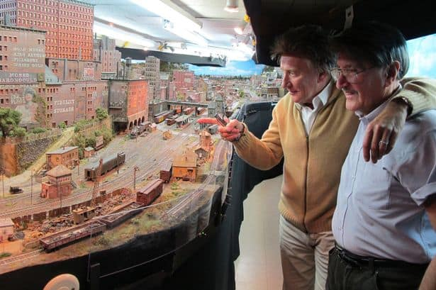 Rod Stewarts Model Railway inside Beverley Hills Home