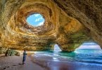 Algarve Portgual Caves Amazing winter sun