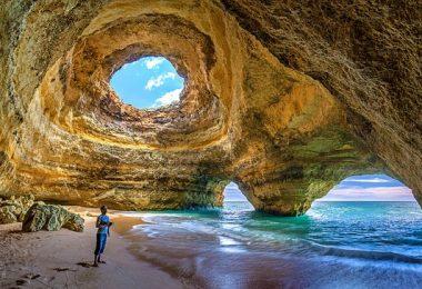 Algarve Portgual Caves Amazing winter sun