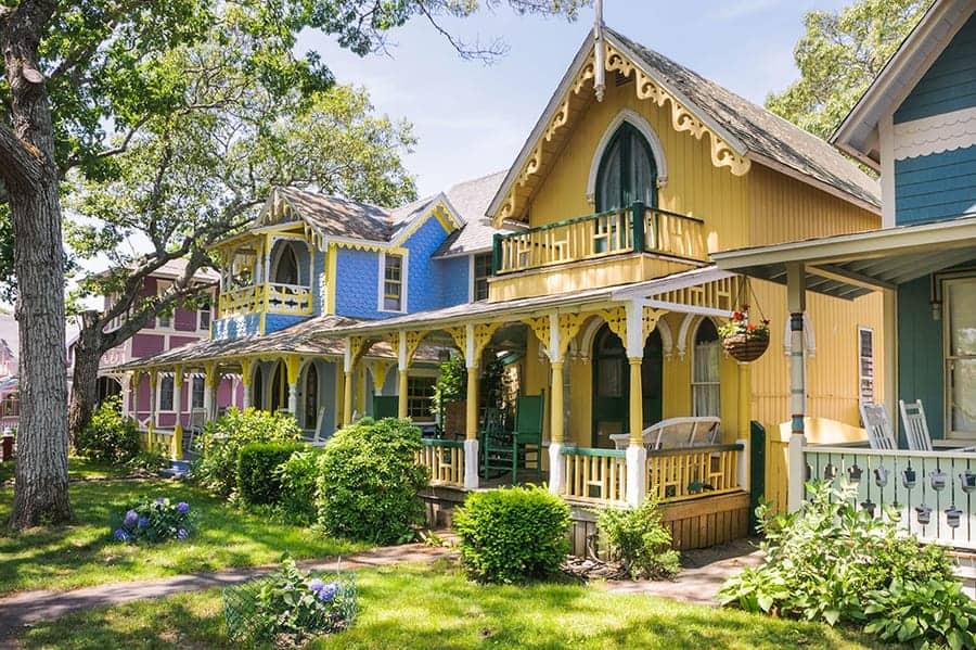 Marthas Vineyard Massachusetts USA Oak Bluffs Cottages Road Trip