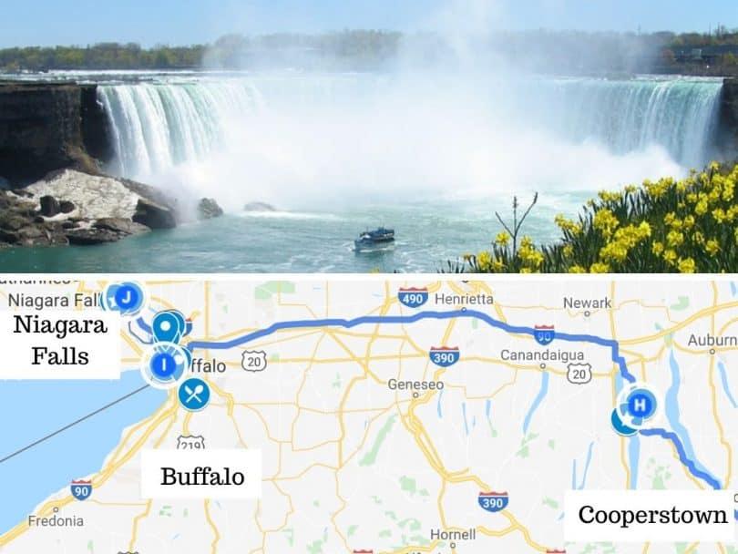 New York to Niagara Falls road trip