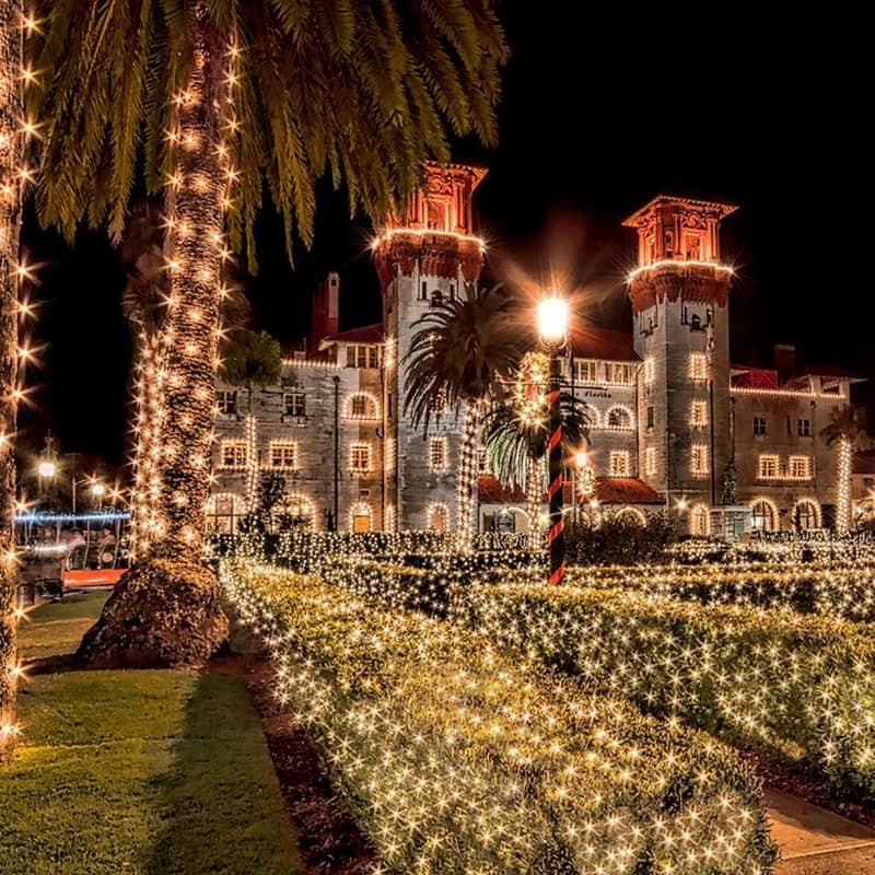 St augustine Night of lights florida