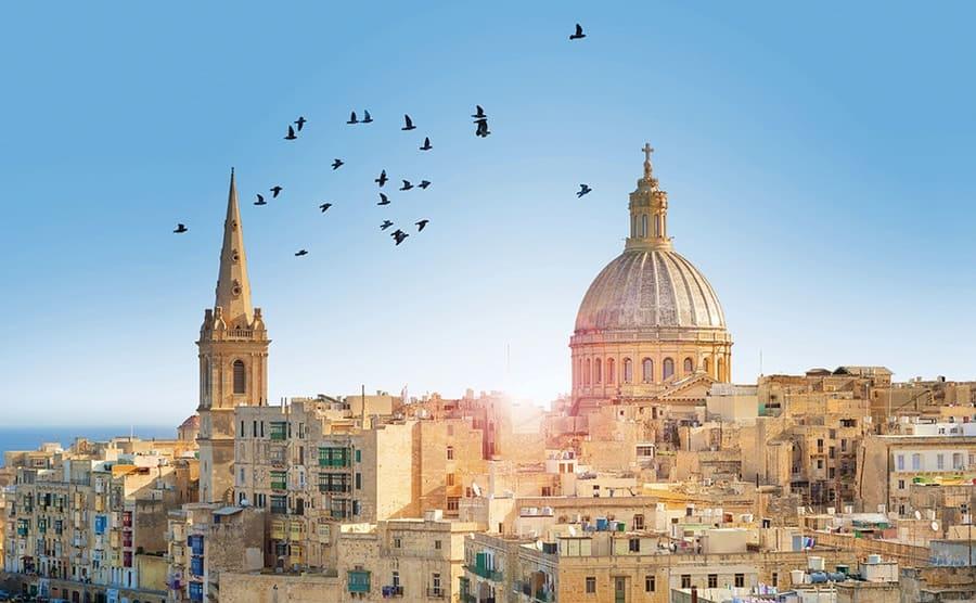 Valetta Malta Winter Sun