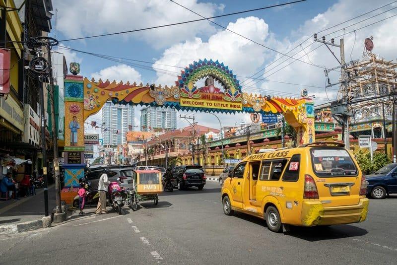 Little India in Medan, North Sumatra, Indonesia.
