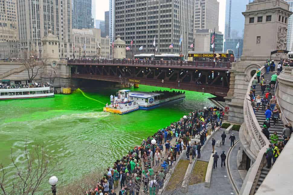 St Patricks Day Parade Chicago Green River