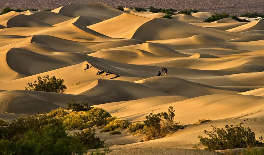 Mesquite Flat sunset death valley california
